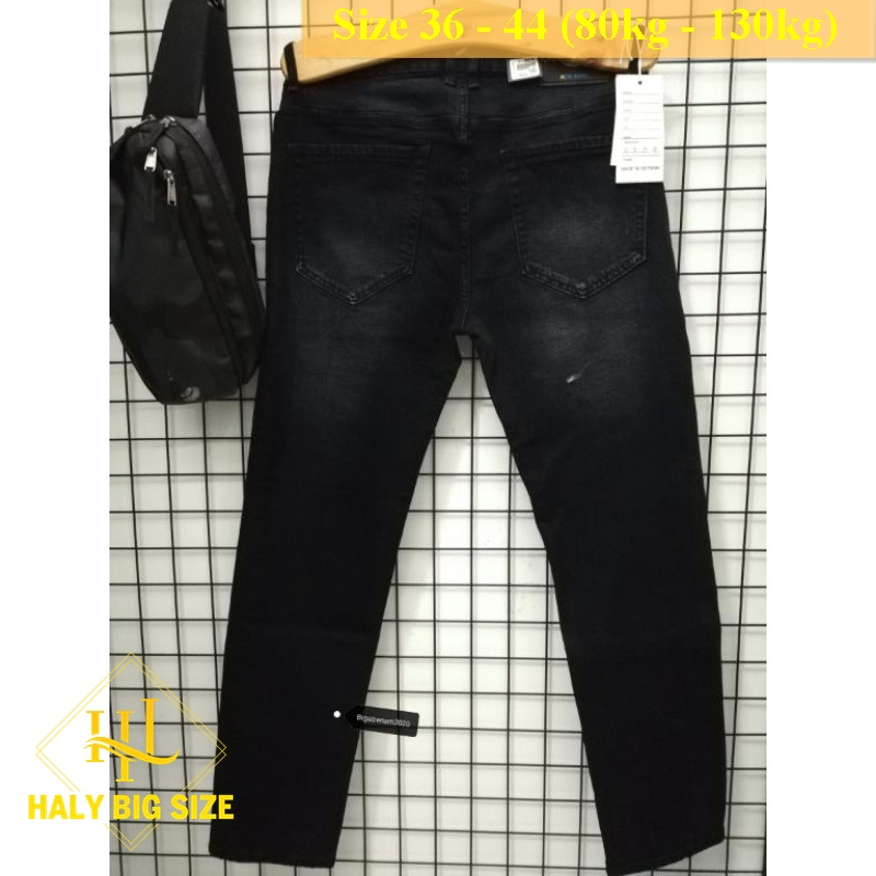 Quần jean nam đen bạc h035 big size