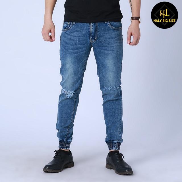 quần jogger chất liệu jean