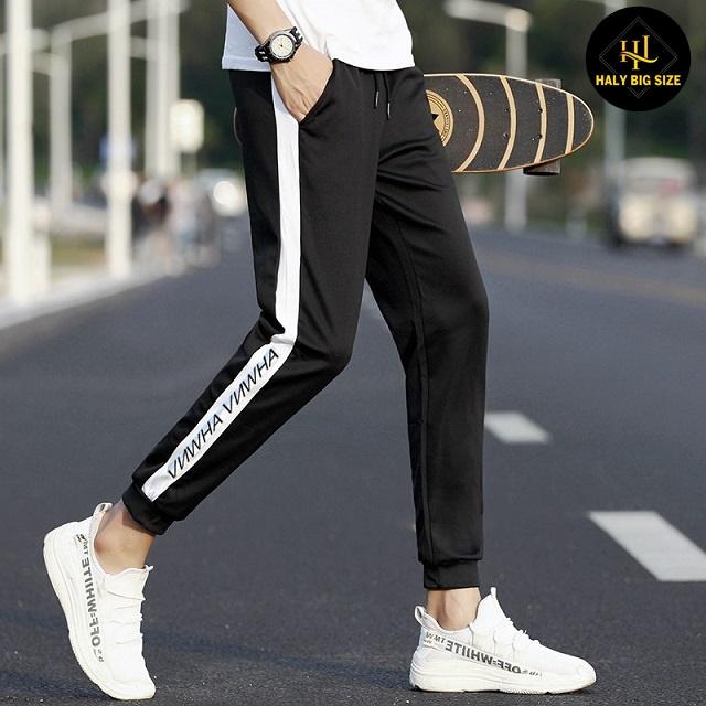 quần jogger họa tiết sọc