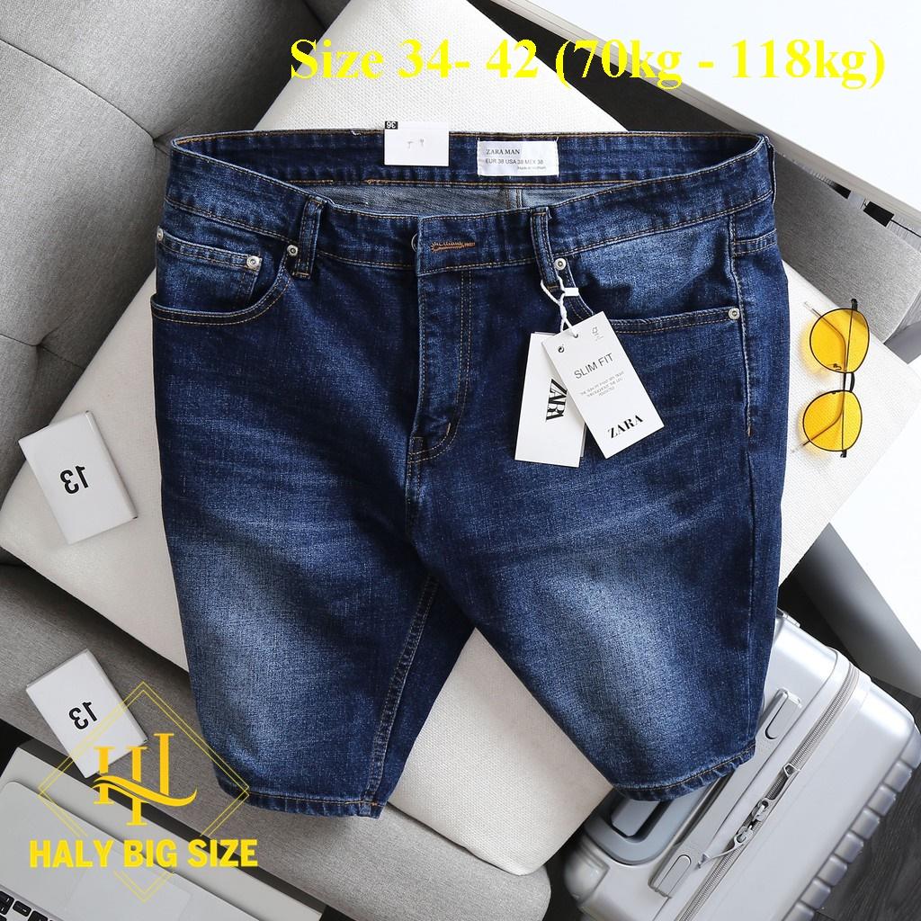 quần short jean nam big size xanh đậm