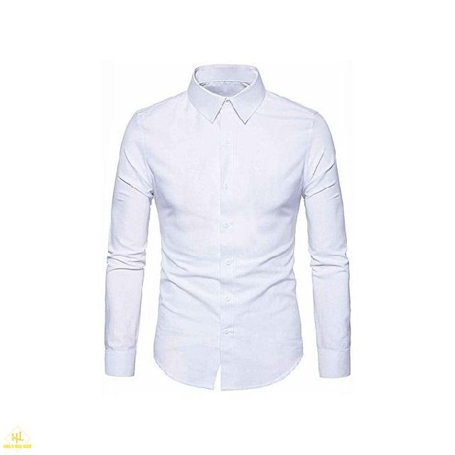 áo sơ mi trắng cho nam mập