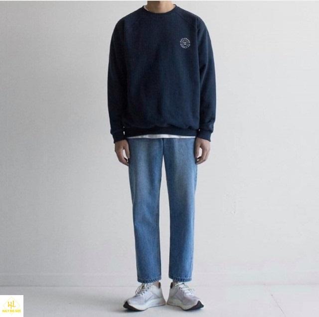 áo thun tay dài nam với quần jean